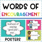 Words of Encouragement Posters