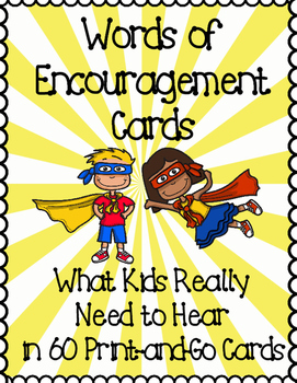 Words of Encouragement Print-and-Go Cards