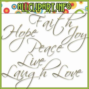 $1.00 BARGAIN BIN - Words of Hope Gold Word Art