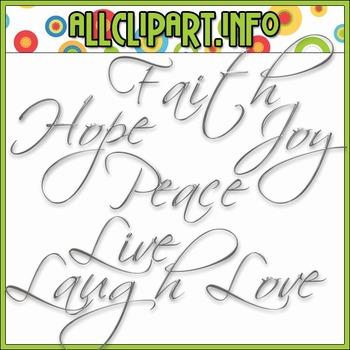$1.00 BARGAIN BIN - Words of Hope Silver Word Art