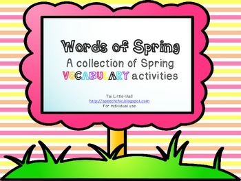 Spring Vocabulary Activities for Language Building