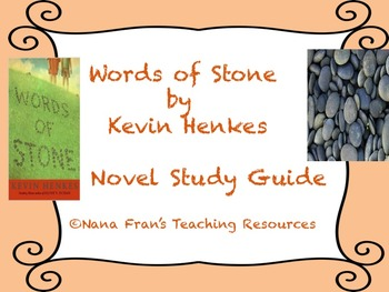 Words of Stone Novel Study Guide