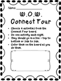 Words of The Week Connect Four Activities