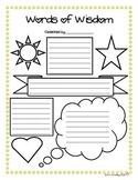 Words of Wisdom Poster Template