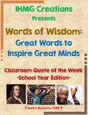 Words of Wisdom: Quote of the Week-School Year Edition (Common Core)