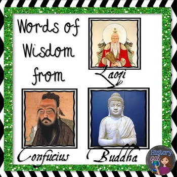 Words of Wisdom from Confucius, Laozi, and Buddha