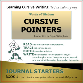 Words of Wisdom with Cursive Pointers - Book 1