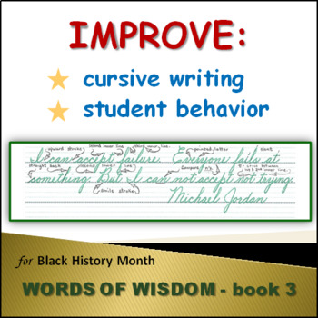 Words of Wisdom with Cursive Pointers from Accomplished African Americans