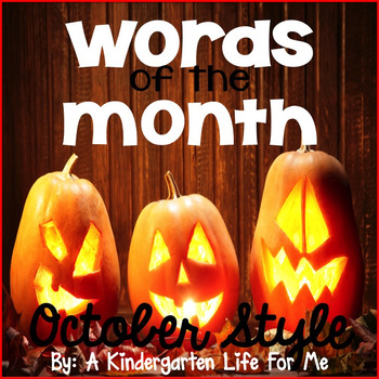 Words of the Month - August, September, October BUNDLE