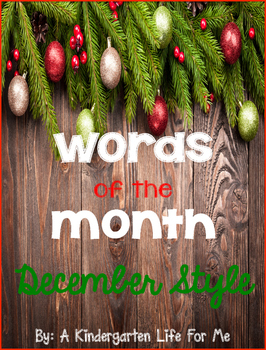 Words of the Month - December Style