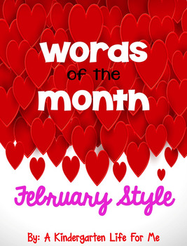 Words of the Month-February, March, April BUNDLE