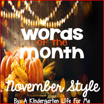 Words of the Month - November Style