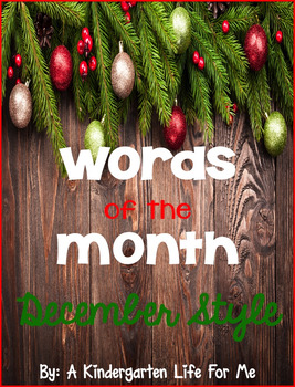 Words of the Month - November and December BUNDLE