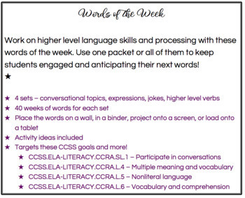 Words of the Week