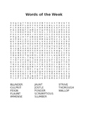 Words of the Week Word Search