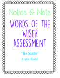Words of the Wiser Notice and Note Assessment NO PREP