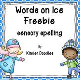 Words on Ice editable sensory tub cards