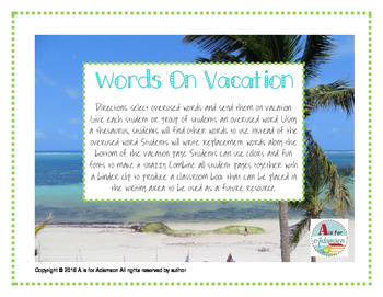 Words on Vacation
