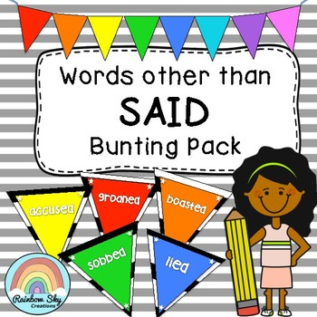 Words other than SAID Bunting - Posters