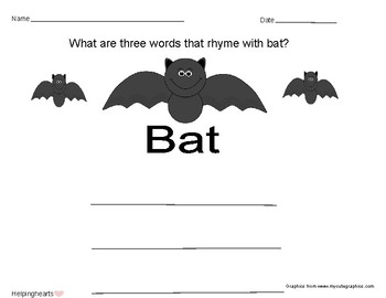 Words that Rhyme with Bat