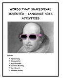 Words that Shakespeare Invented - Language Arts Activities