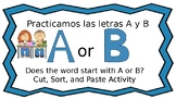Words that begin with A or B in Spanish