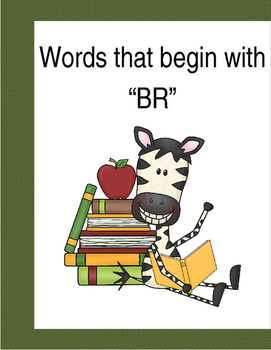 """Words that begin with """"BR"""" (Based on Orton Gillingham.) 3 pages of practice."""
