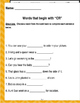 """Words that begin with """"CR"""" (Based on Orton Gillingham.) 3 pages of practice."""