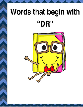 """Words that begin with """"DR"""" (Based on Orton Gillingham.) 3"""