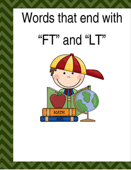 """Words that end with """"FT"""" & """"LT"""" (Based on Orton Gillingham"""