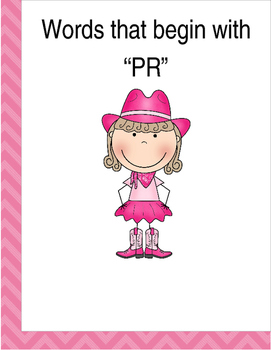 """Words that begin with """"PR"""" (Based on Orton Gillingham.) 3 pages of practice"""