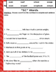 """Words that begin with """"SC"""" & """"SK"""" (Based on Orton Gillingham.) 3 pages."""