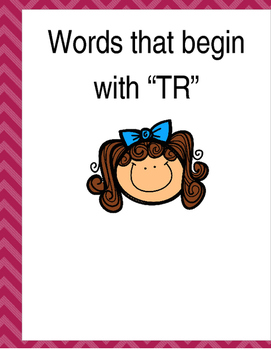 "Words that begin with ""TR"" (Based on Orton Gillingham.) 3"