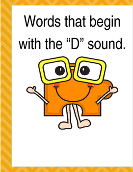 """Words that begin with the """"D"""" sound. (Based on Orton Gilli"""