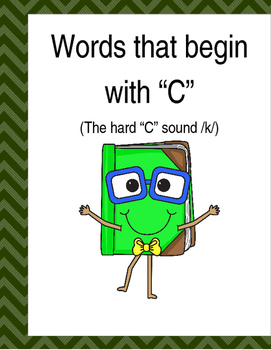 "Words that begin with the hard ""C"" (Based on Orton Gillingham.) 3 pages."