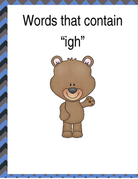 """Words that contain """"IGH"""" (Based on Orton Gillingham.) 3 pages of practice"""