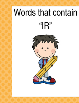 """Words that contain """"IR"""" (Based on Orton Gillingham.) 3 pag"""