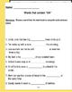 """Words that contain """"OA"""" (Based on Orton Gillingham.) 3 pages of practice."""