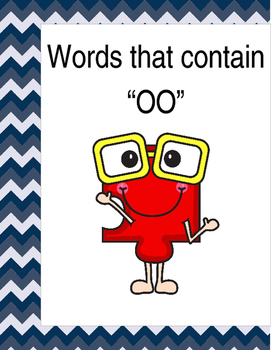 """Words that contain """"OO"""" (Based on Orton Gillingham.) 3 pages of practice."""