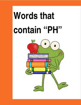 """Words that contain """"PH"""" (Based on Orton Gillingham.) 3 pages of practice."""