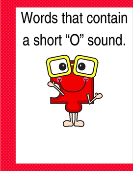 "Words that contain a short ""O"" sound. (Based on Orton Gillingham.) 3 pages."