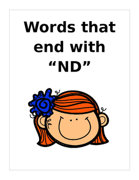 """Words that end in """"ND"""" (Based on Orton Gillingham.) 3 page"""