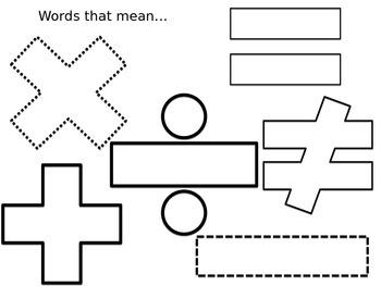 Words that mean... Graphic Organizer