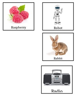 """Words that start with """"R"""" Flash Cards"""