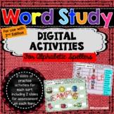 Words Their Way™ Alphabet Spellers DIGITAL Activities-  2n