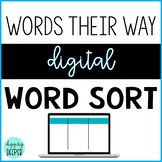 Words their Way: DIGITAL Paperless Word Sort