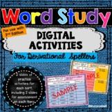 Words Their Way - Derivational Spellers DIGITAL Activities