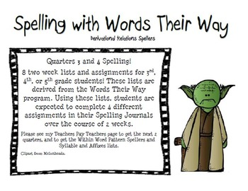 Spelling with Words their Way Derivational Spellers Second