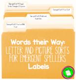 Words their Way: Emergent Sort Labels