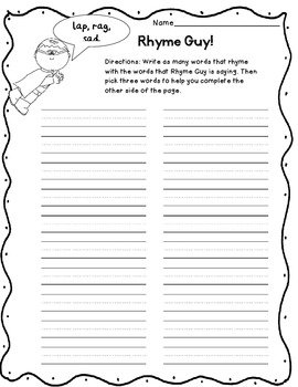 Words their Way First Grade Sentences Rhyming Words Higher Order Thinking